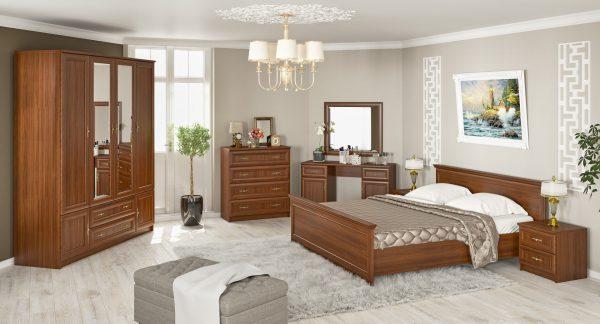 Даллас кровать венге-самоа (Мебель Сервис)