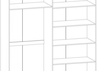 Ева шкаф 4 дв Мебель Сервис