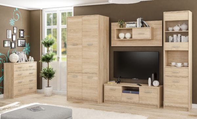 Типс Пенал витрина 1Д1В1Ш (Мебель Сервис)