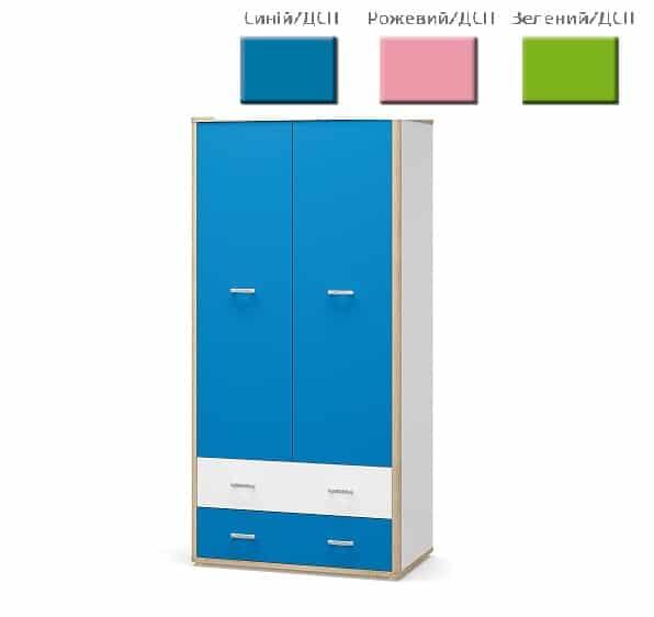 Шкаф 2д 2ш Лео (Мебель Сервис)