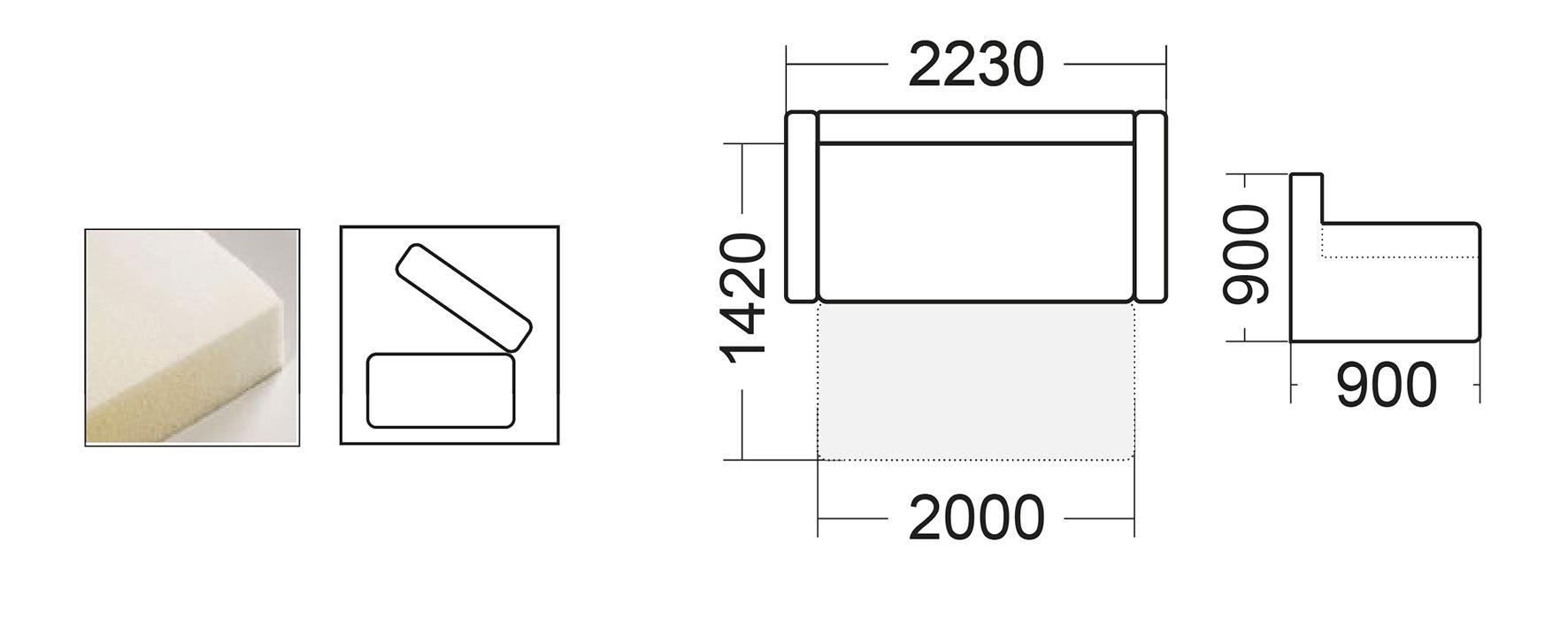 Диван Веста 2 (Мебель Сервис)