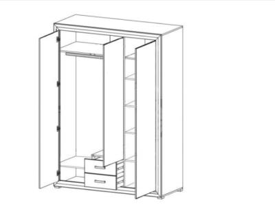 схема шкаф 3 дв маркус